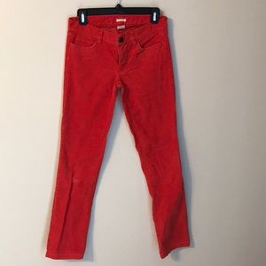Jcrew factory matchstick red-orange Corduroy pants